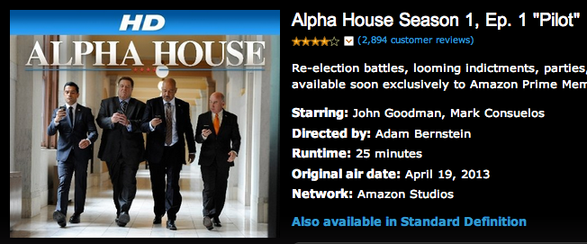 alpha house amazon serial originali