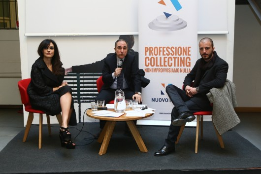 MariaGrazia Cucinotta, Andrea Micicché (presidente NuovoImaie) e Nicolas Vaporidis (credit Matteo Mignani)