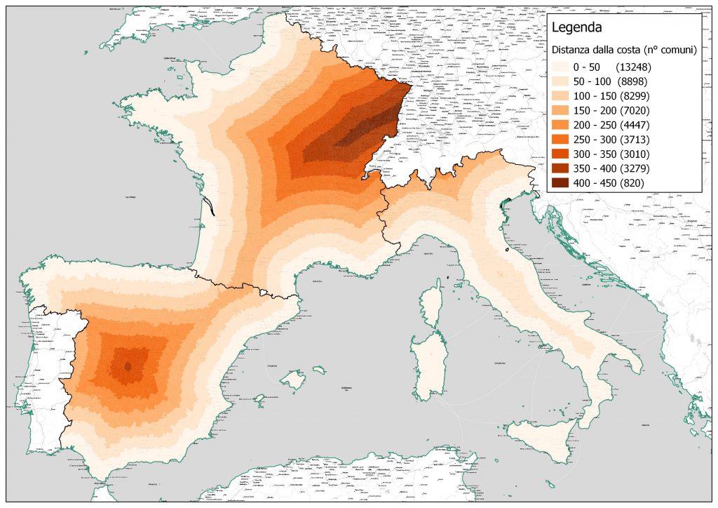 Italia linea di costa